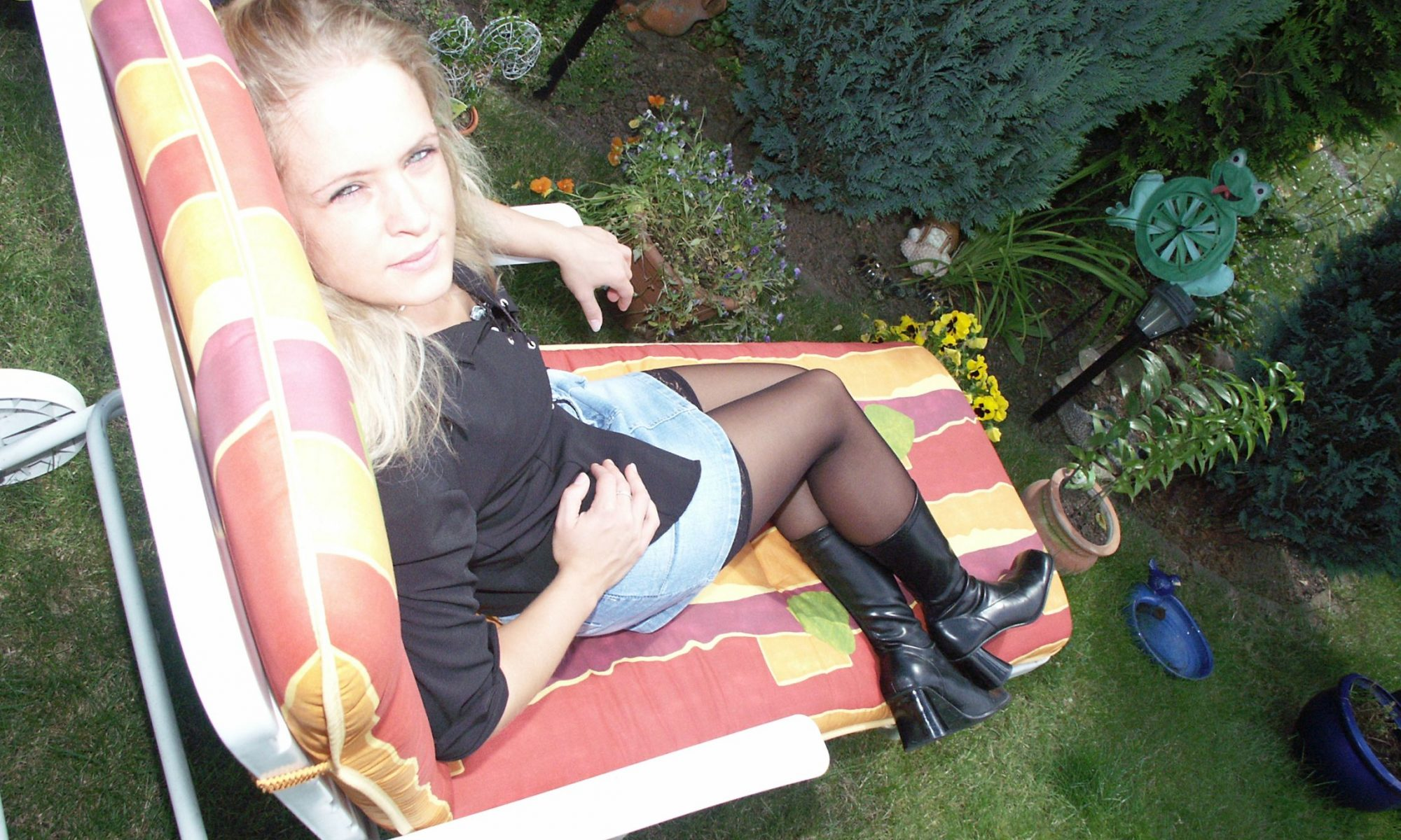 Junge Blondine